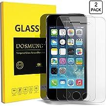 DOSMUNG Protector de Pantalla para iPhone 5/5s/5c/SE - Vidrio Cristal Templado Premium,2-Pack - alta Definicion,fácil instalación,transparente,alta calidad