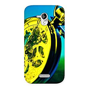 Delighted Vintage Hand Clock Multicolor Back Case Cover for Micromax Canvas HD A116