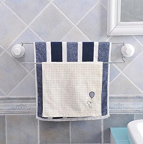 Bathroom Sucker Double Lever Towel Rack Free