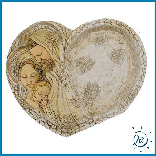 Svuotatasche sacra famiglia in marmoresina misura 12x15 cm | bomboniere matrimonio nascita battesimo comunione originali moderne e utili sposi e accessori bomboniere economiche fai da te