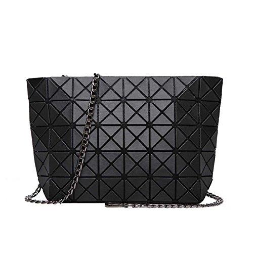 Spalla Delle Donne Del Sacchetto Piazza Borsa Cubo Geometria Fashion Bag Black