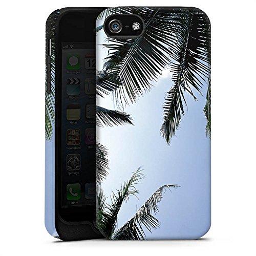 Apple iPhone 4 Housse Étui Silicone Coque Protection Palmiers Ciel Nature Cas Tough terne