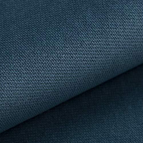 NOVELY® Passau | samtig weicher Chenille Möbelstoff in 26 Farben | Polsterstoff (105 Blau) -