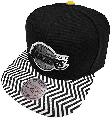 Mitchell & Ness - Casquette Noire Homme Eu134 Los Angeles Lakers Black - Tu