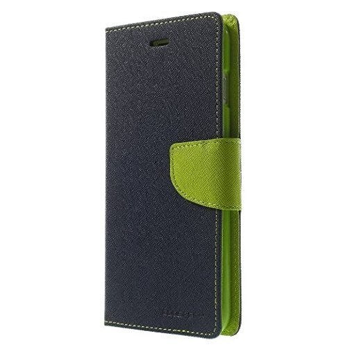 Micromax Canvas Knight Cameo A290 Mercury Flip Wallet Diary Card Case Cover (Blue/Green) By Mobile Life  available at amazon for Rs.189