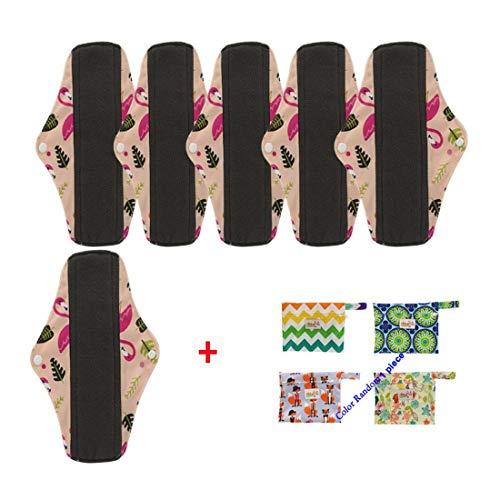 OHBABYKA, wiederverwendbare Damenbinden/Menstruationsbinden aus Bambus-Stoff (Small, 6ppds) - Natürliche Sanitary Pads