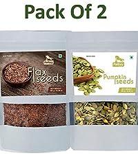 Flax Seeds & Pumpkin Seeds (Pack of 2) Each 300g
