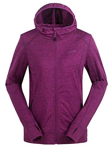 aparso Damen Sportjacke Laufjacke Kapuzenpullover Pullover Jacke Sweatjacke Sweatshirt mit Kapuze (L, Lila)
