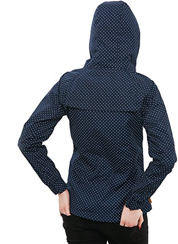 Alife & Kickin Damen Jacke Black Mamba Übergangsjacke Jacket Windbreaker Kapuze mit Punkten marine dots
