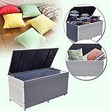 Wolketon 950 L XXL Grau Garten Kissenbox 146 x 83 x 80 CM Auflagenbox Gartenbox Aufbewahrungsbox bis 150 kg belastbar