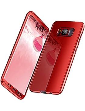Funda Galaxy S8, Carcasa Galaxy S8 Plus Funda 3 EN 1 PC Caso Ultra Slim PC Cover Case Bumper 360 Grados Protectora...
