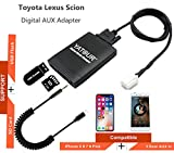 Toyota iPhone Stereo Aux Adapter, KFZ Digital Audio-Eingang Interface mit SD-Karte, iPod MP3 USB, 3,5 mm AUX IN, Lighnting Musik Player für Toyota 2003-2011 Lexus 2004-2011 6 + 6 Stecker (m06-toy2)