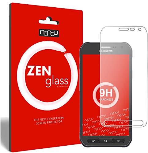 ZenGlass (2 Stück Flexible Glas-Folie für Samsung Galaxy S6 Active Panzerfolie I Bildschirm-Schutzfolie 9H