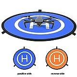 """Anpress 30"""" (75 cm) Drone Landung Pad, FastFold tragbar klappbar Hubschrauber Kinder Launch Pad Drone Parking Schürze mit Tragetasche Reflektierende Streifen für DJI Mavic Pro Phantom 2/3/4/4 Pro inspirieren 1/2 RC Drone Quadcopter"""