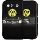 Samsung Galaxy S3 Flip Tasche Schutz Hülle Walletcase Bookstyle Borussia Dortmund BVB Stadion