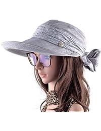 Eastery Gorras Damas con Cuello El Cara Protección para Mujeres Sombreros  Estilo Simple De ala Ancha 899a488f2ea
