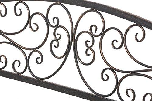 CLP Gartenbank AZAD im Landhausstil, Eisen lackiert, ca 110 x 50 cm Bronze - 6