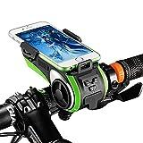 Bazaar ROCKBROS Multi Funktions Fahrrad Telefon Halter Fahrrad Licht Bluetooth Audio Powerbank Cycling Ring Bell Integrierter USB Ladegerät Bike Zubehör
