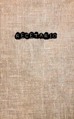 Recetario: Libro de recetas de cocina en blanco para escribir todas las instrucciones de la receta.