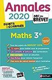 Annales ABC du Brevet 2020 Maths - Corrigé...