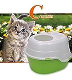 Cutepet Katzentoilette Eck-Toilette Cat Katzentoilette Mit Rand Geruch Entfernende Katzentoilette MS-019,Green