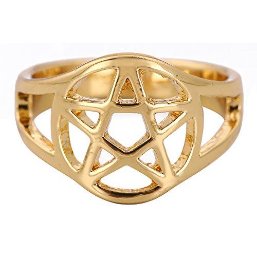 Fishhook Pagan Pentacle Amulet Talismán Protección