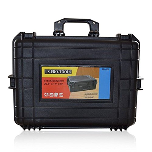 US PRO TOOLS Waterproof Hard Carry Flight Case Watertight Photography Tool Box with foam insert 20.5 by us pro tools -