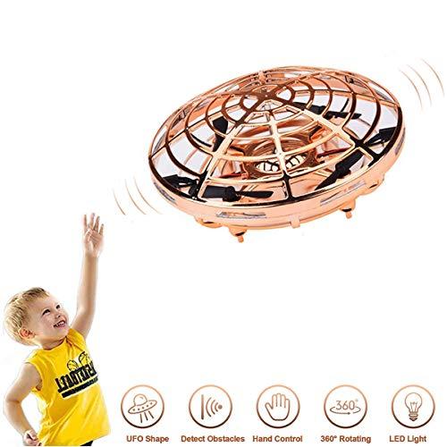 Wodesid Mini Drohne für Kinder UFO Mini Drohne Fliegend Ball Spielzeug Hubschrauber Quadrocopter mit LED Licht Infrarot Induktions Flying BallDrohne für Jungen Mädchen Kinder Anfänger
