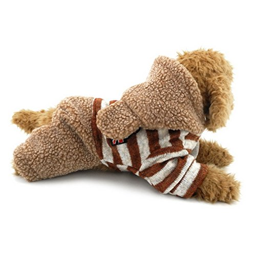 ranphy Pet Hoodies Vierbein Jumpsuit Fleece Hundemantel gestreift Hunde/Welpen Kleidung Bunny - Männlich Bunny Kostüm