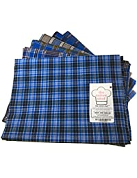 The Cotton Chef Assorted Color Checks Lungies, Soaked, Washed, Stitched, Ironed, Ready To Use 100x100 Thread 2.15mtr...
