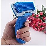 Outil toilettage démêlage massage peigne de cheveux râteaux brosse pour petit chien chiot chat à polis morts poils dénoués poils longs etc.