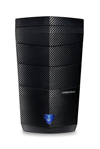 Medion S91-per PC, Intel Core _ i52.7GHz, NVIDIA GeForce GTX 1060-6GB DDR5, Disco rigido da 1TB, 16GB di RAM) Nero