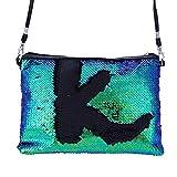 Zolimx Damen Geldbörse Mode-Outdoor-Solid Color Pailletten Handtasche Schultertasche Tote Farbwechsel einseitige Umhängetasche Kosmetiktasche (Grün)