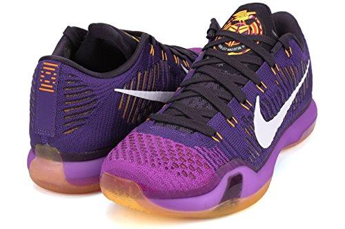 Nike Kobe X Elite Low, Chaussures de Handball Homme, Taille Multicolore - Morado / Blanco / Negro (Crt Prpl/White-Vvd Prpl-Cv Prp)