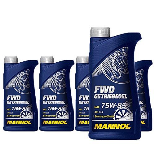 MANNOL 5 x 1 liter, FWD Getriebeoel 75W-85 API GL 4