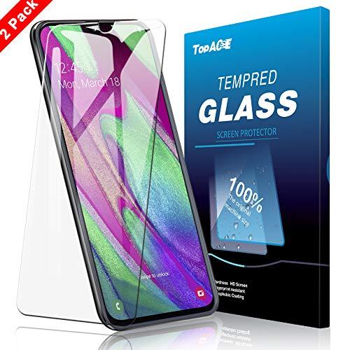 TOPACE Panzerglas Schutzfolie für Samsung Galaxy A40,(2 Stücke) Ultra Dünn HD Transparenz Schutzfolie Anti-Öl Anti-Kratzer und Blasenfrei Gehärtetes Glas Displayschutz für Samsung Galaxy A40