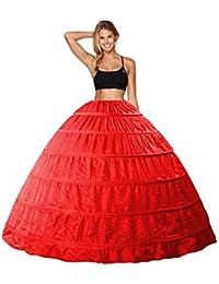 Babydress Enagua Aros Enaguas Enteras Crinolina 6 Aros para Mujer Faldas  Vestidos para Mujer Underskirt Cancan 42bab5139aa7