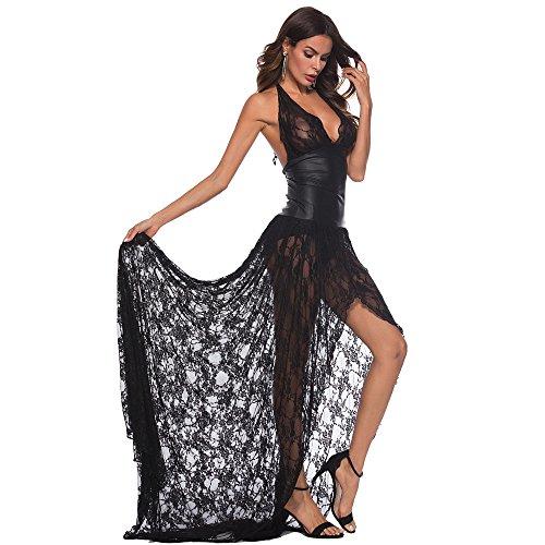 Damen Nachtwäsche Erotik Unterwäsche Erotik Dessous Set Lingerie Erotic Nachtwäsche Reizwäsche Unterwäsche Babydoll Spitze Blumen Push-Up Top BH Nachthemd