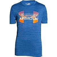 Comparador de precios Under Armour–Camiseta y Reservorio Big Logo Hybrid Short Sleeve T, Primavera/Verano, niño, Color Azul - Azul, tamaño YXS - precios baratos