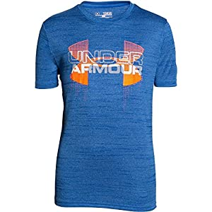 Under Armour Jungen Fitness T-Shirt und Tank Big Logo Hybrid Short Sleeve T