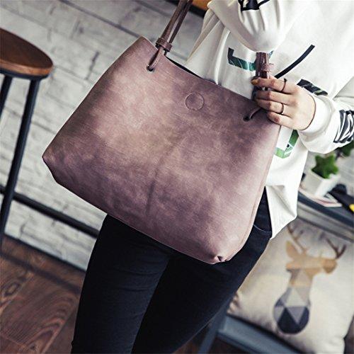 ZHOUBA, Borsa a spalla donna, Black (nero) - L4150115M6XMV5527 Pink