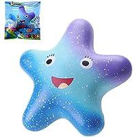 VLAMPO Squishy Stress Giocattoli Squishies Soft Slow Rising Squeezing Starfish 5.5 '' (Blu)