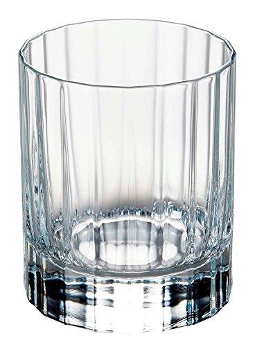 Luigi Bormioli 7540470 Bach Boîte de 6 Chopes Forme Basse Cristal Transparent 7,5 x 7,5 x 9 cm