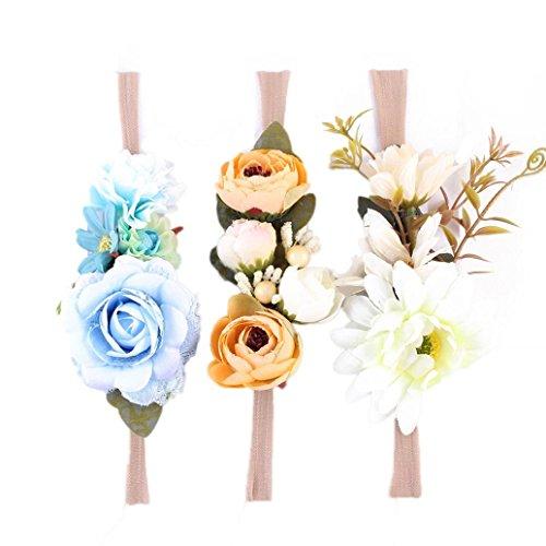 en Partei Kopf Zusätze Stirnband Baby Elastische Blumen Kopfbedeckung (A) (Mädchen Verkleiden Sich Schuhe)