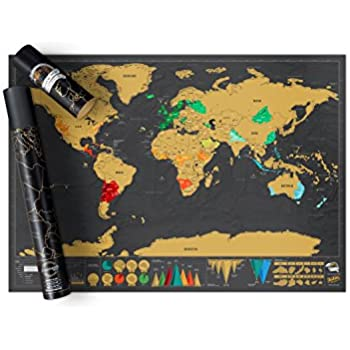 Scratch map deluxe edition personalised world map poster travel scratch map deluxe edition personalised world map poster travel gift luckies of london gumiabroncs Choice Image