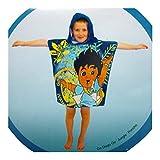 Kids Go Diego Go! Hooded Poncho beach towel (60 x 120cm)