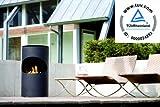 RUBY FIRES Silo Bio Ethanol Stand-Kamin aus Stahl in Schwarz, mit TÜV geprüften Keramik-Brenner