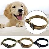 Bbl345dLlo Hundehalsband, bequem, für den Außenbereich, Militär-Stil, weich, verstellbar, Khaki XL