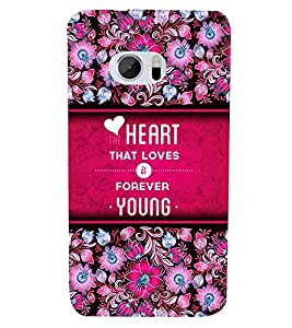 Love Is Young Forever 3D Hard Polycarbonate Designer Back Case Cover for HTC One M10 :: HTC M10