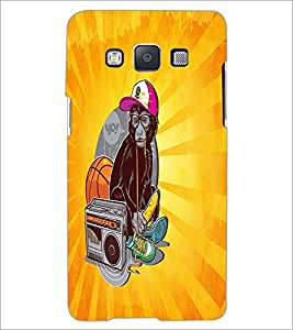 PrintDhaba Music Monkey D-5850 Back Case Cover for SAMSUNG GALAXY A5 (Multi-Coloured)